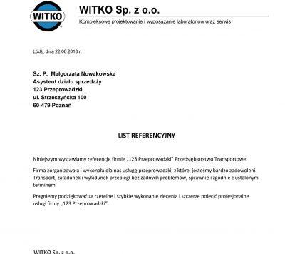 Referencje WITKO_123 przeprowadzki